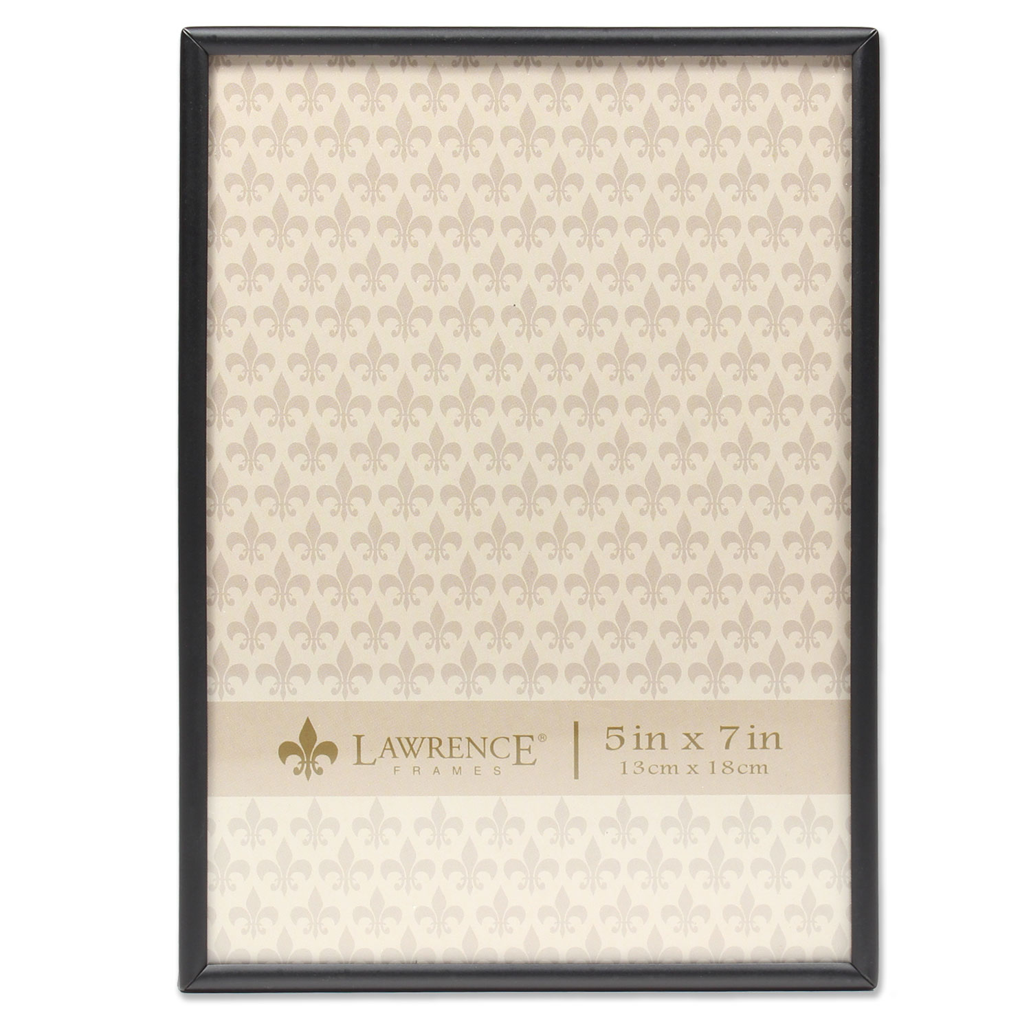 5x7 Simply Black Picture Frame by Lawrence Frames