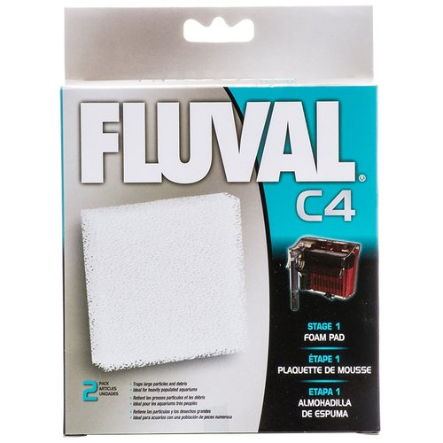 Fluval C4 Power Filter Foam Pad C4 Filter Pad - 2 Pack