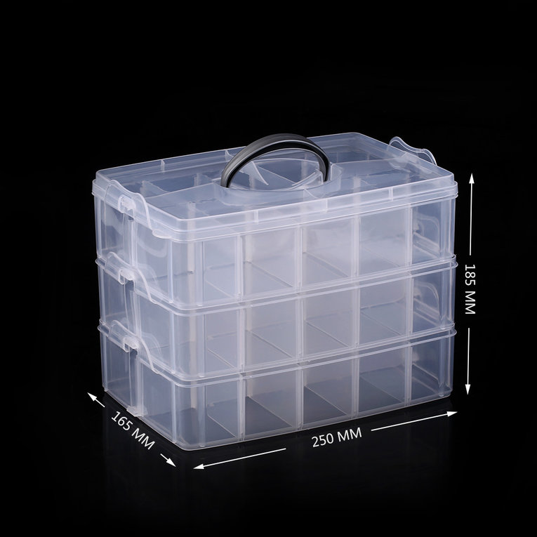Practical Plastic Storage Box Container Case 30 Organizer Small Items Storage