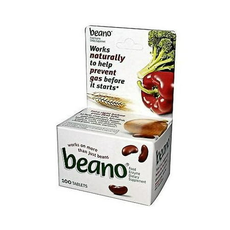 Enzyme Food Supplement (Beano Food Enzyme Dietary Supplement, Tablets, 100)