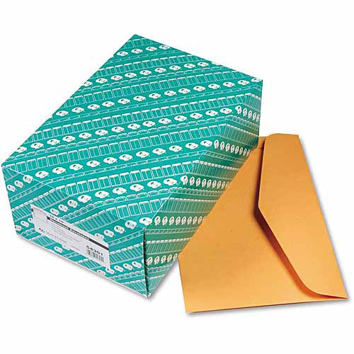 "Quality Park Open Side Booklet Envelope, Traditional, 15"" x 10, Brown Kraft, 100/Box"