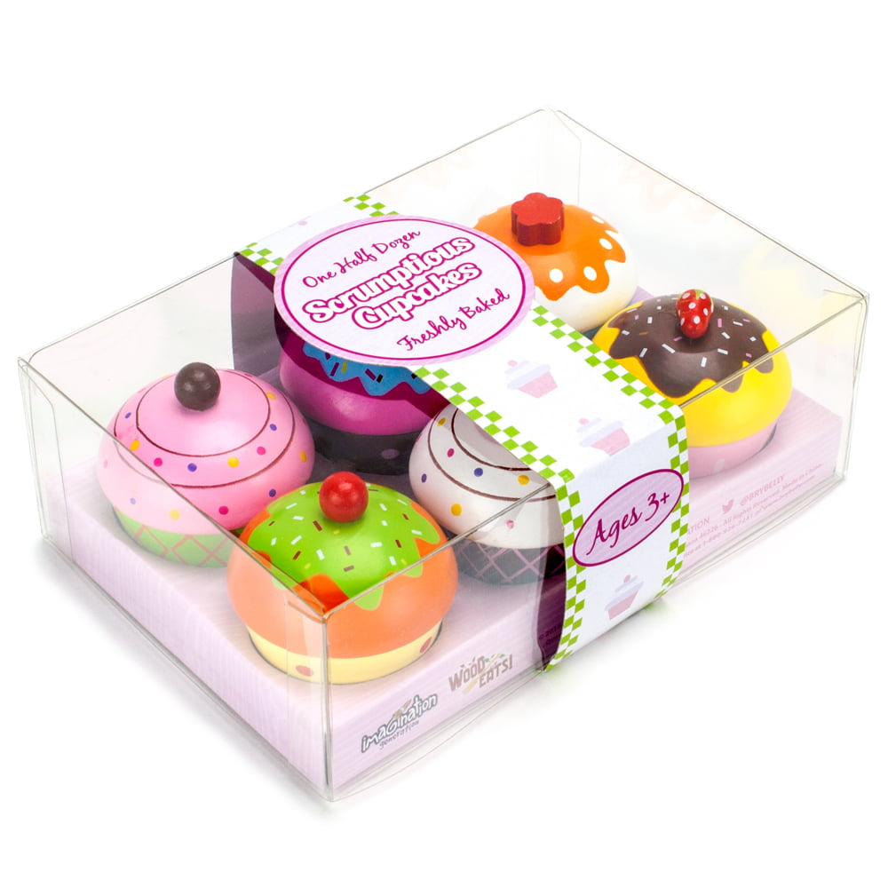 Baker/'s Dozen Donuts13 Colorful Wooden PastriesFood Toys Pretend Play