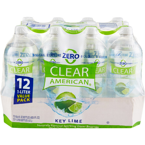 Clear American Key Lime Sparkling Water, 1 l, 12 pack