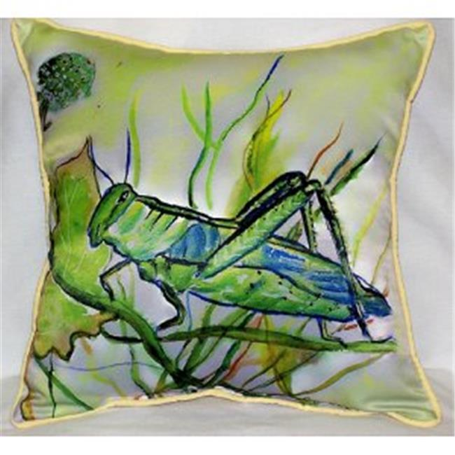 Betsy Drake ZP458 Grasshopper Throw Pillow, 22 x 22 inch