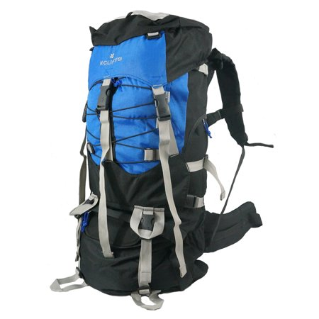 Hiking Backpack Large Scout Camping Backpack Outdoor Travel Bag w/Rain Cover Royal Blue