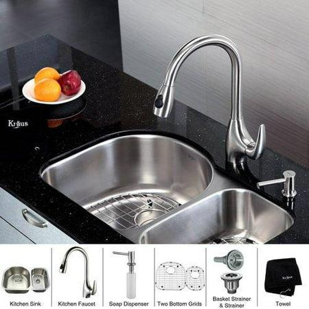 Kraus stainless steel undermount kitchen sink faucet soap dispenser - Walmart kitchen sinks ...