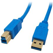4XEM 1' USB 3.0 Cable A to B, Blue