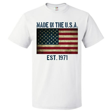 48th Birthday Gift For 48 Year Old Made In USA 1971 Shirt (Birthday Ideas For 48 Year Old Woman)