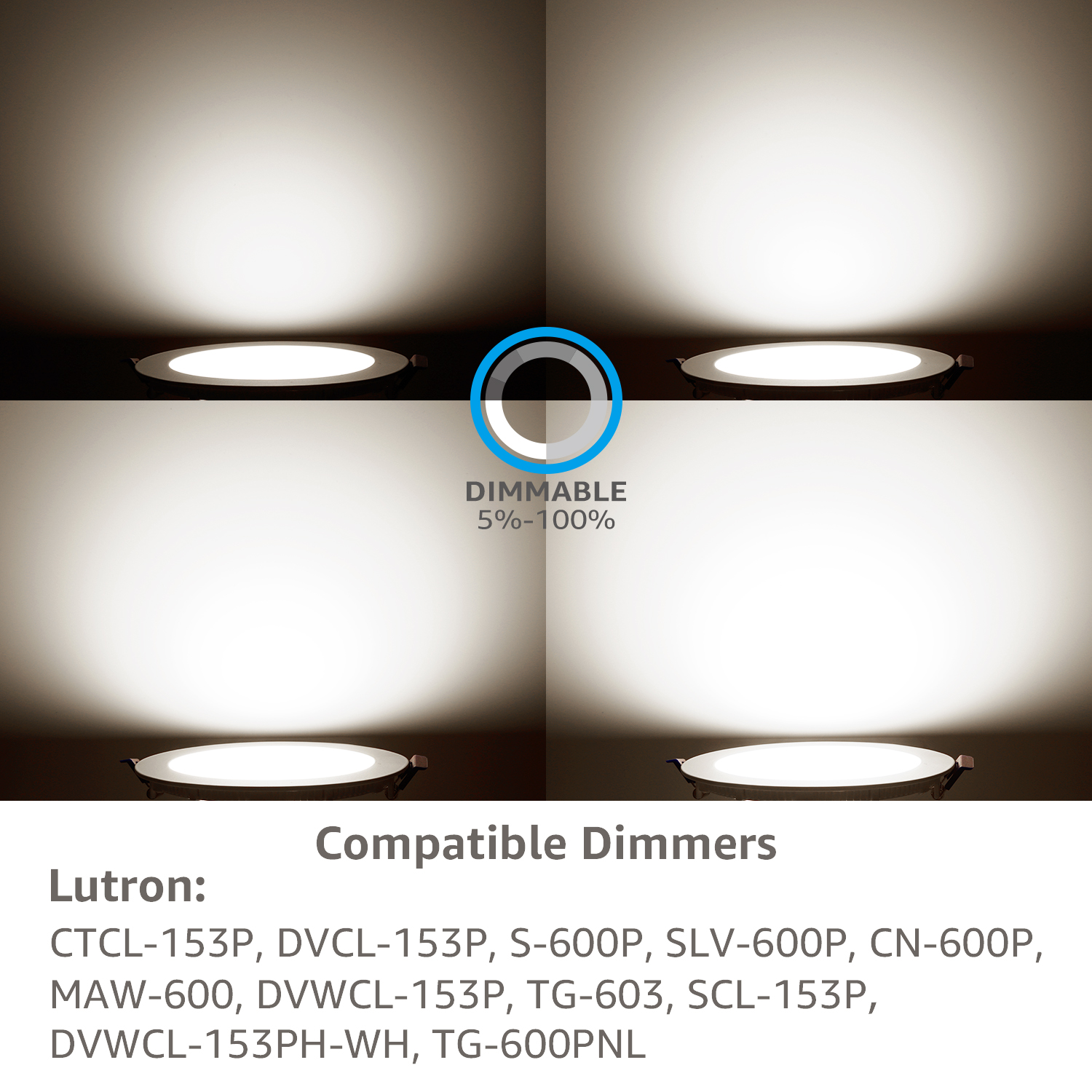 650lm 80W Equivalent ETL and Energy Star Certified 3000K Warm White Wafer Light TORCHSTAR 10W 4 Ultra-Thin Recessed Ceiling Light with Junction Box Pack of 2 Dimmable Downlight