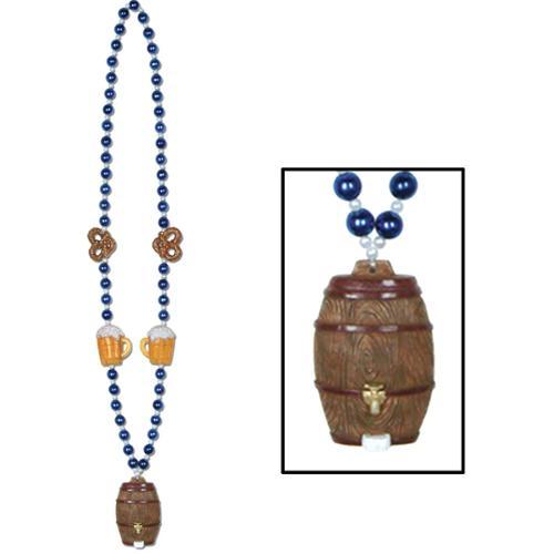 Oktoberfest Keg Medallion Party Beads Set of 12