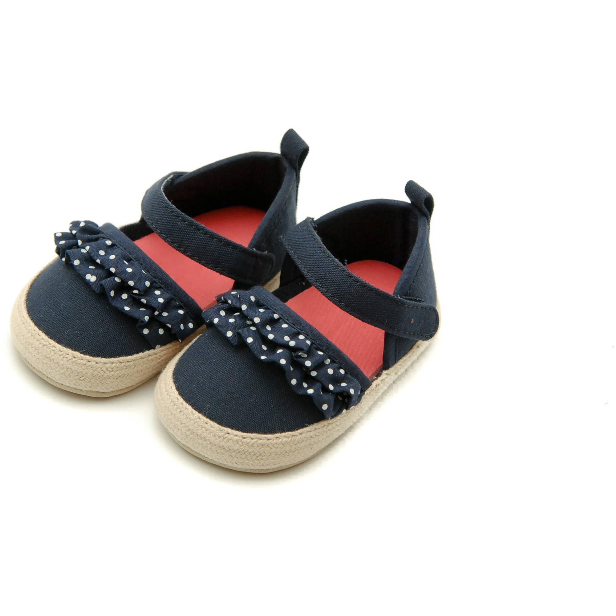 Child of Mine by Carters Newborn Girl Ruffled Sandals