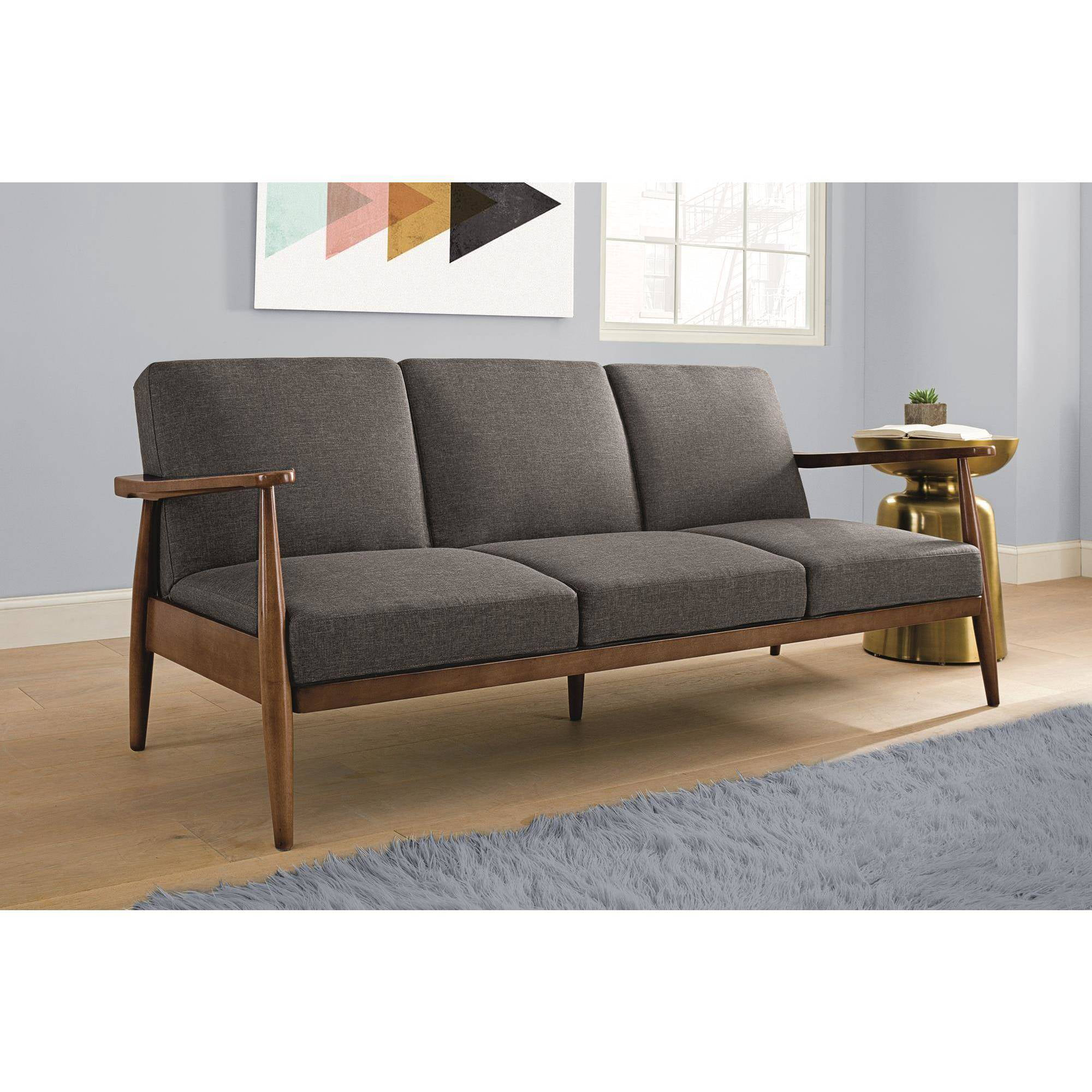 Better Homes and Gardens Flynn Mid Century Sofa Bed, Multiple Colors ...