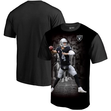 Derek Carr Oakland Raiders NFL Pro Line by Fanatics Branded NFL Player Sublimated Graphic T-Shirt -