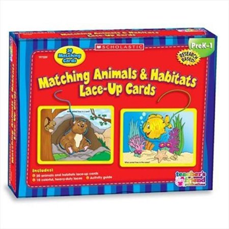 Scholastic 91221 Matching Animals & Habitats