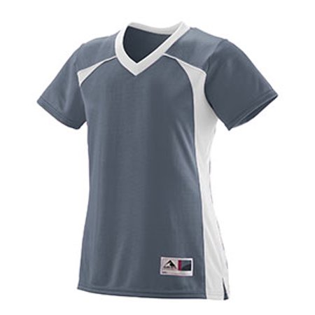 Augusta Drop Ship Ladies Polyester Mesh V-Neck Short-Sleeve (Gathered Mesh Jersey)