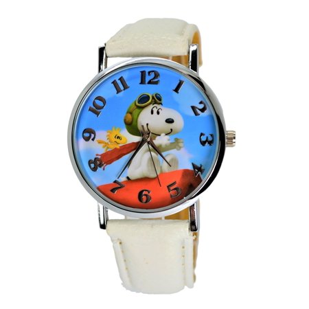 Snoopy peanuts snoopy woodstock modern analog wrist watch for women men children x large for Snoopy watches