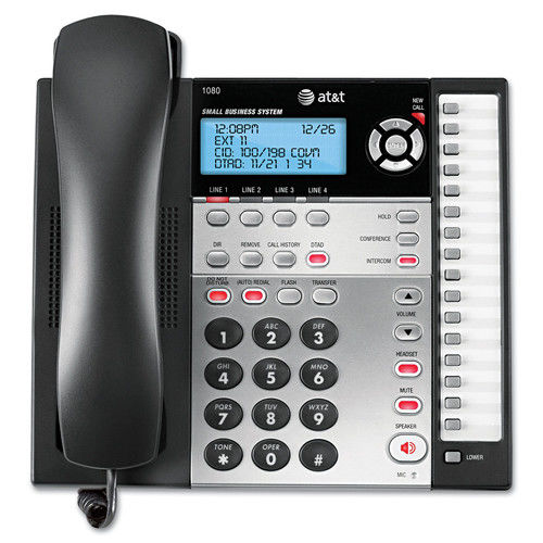 AT&T 1080 Corded Four-Line Expandable Telephone, Caller ID and Answering Machine by AT&T
