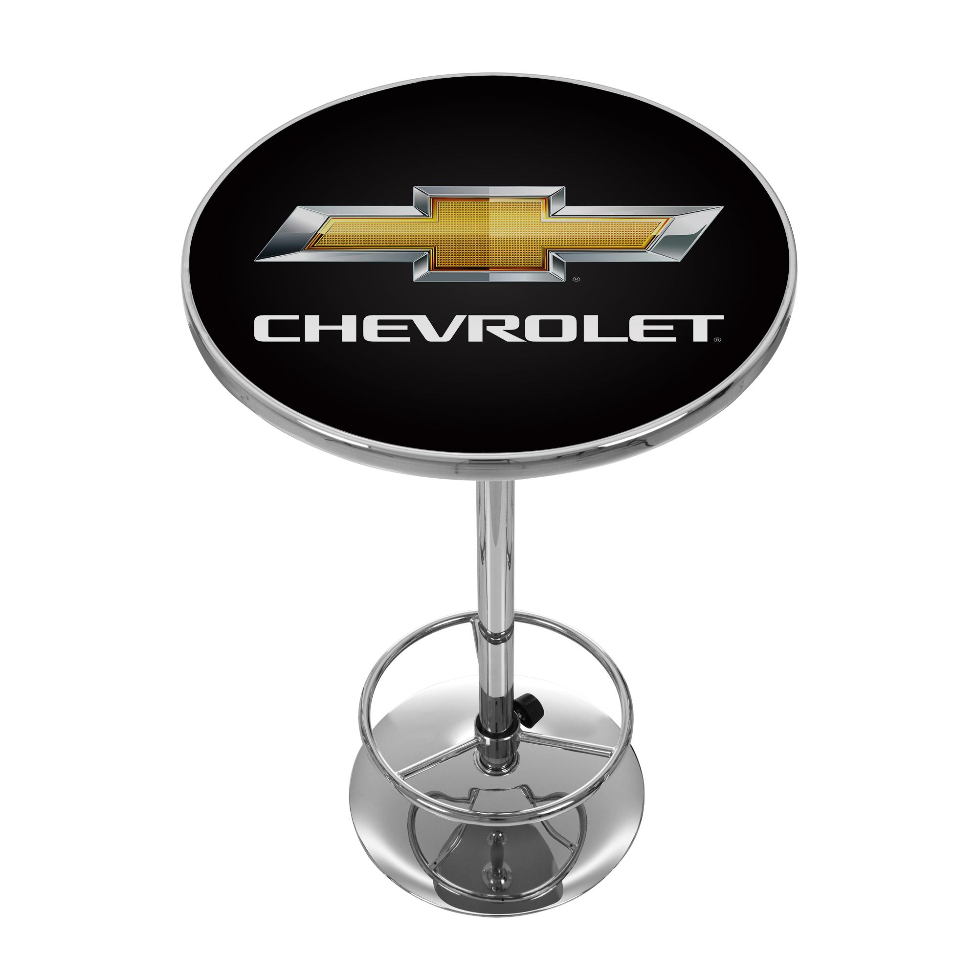 """Chevrolet Chevy 42"""" Pub Table, Chrome"""