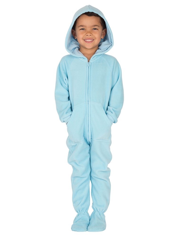 e896e2e36 Footed Pajamas - Footed Pajamas - Baby Blue Toddler Hoodie Onesie ...