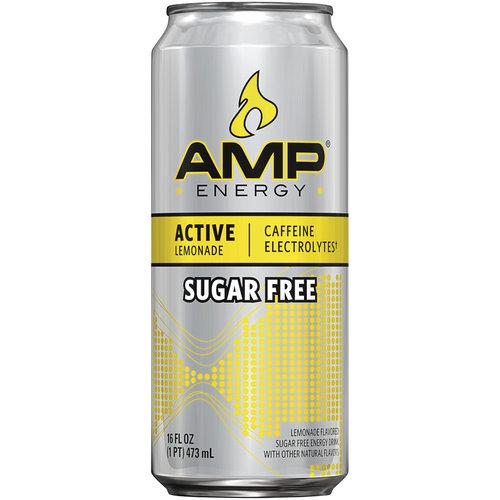 AMP Energy Active Lemonade Sugar Free Energy Drink, 16 fl oz