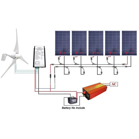 Eco Worthy 24 Volts 600 Watts Wind Solar Power 12v 24v