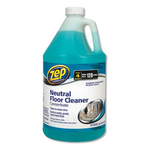 Zep Neutral Floor Cleaner Fresh Scent 1 Gal 4 Bottles