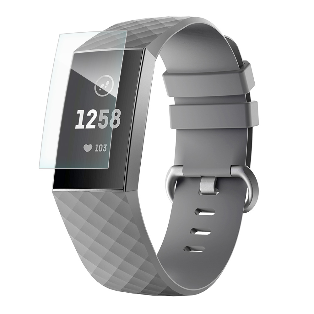 Bumper for Fitbit Charge 4 and Fitbit Charge 3//SE Scratch-Proof 3 Pack Compatible with Fitbit Charge 4//Charge 3 Screen Protector,Valband Ultra Slim Soft Full Cover Case
