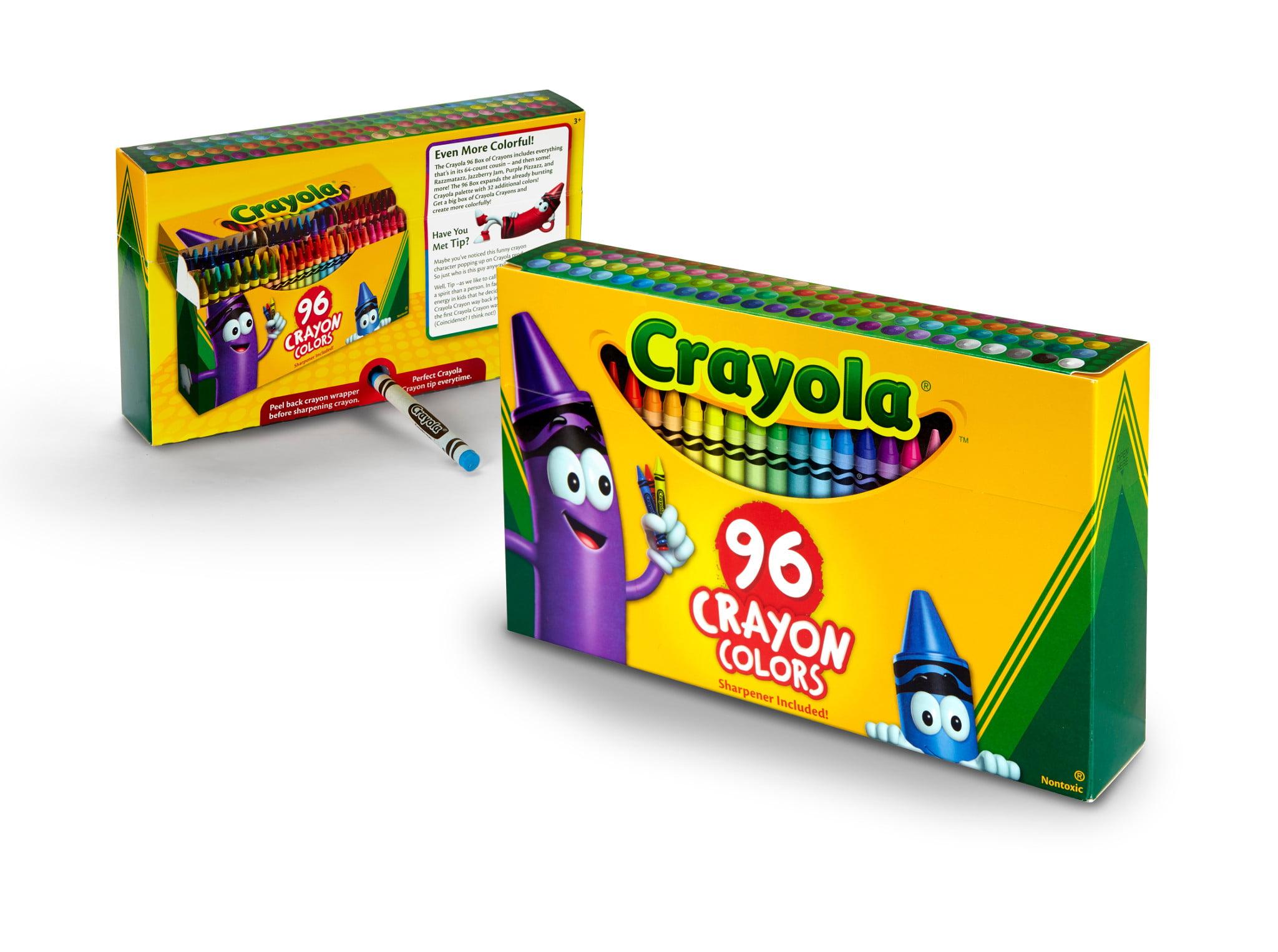 crayola crayons with built in sharpener 96 count walmart com