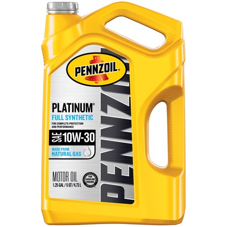 Pennzoil Platinum 10W-30 Full Synthetic Motor Oil, 5 Quart