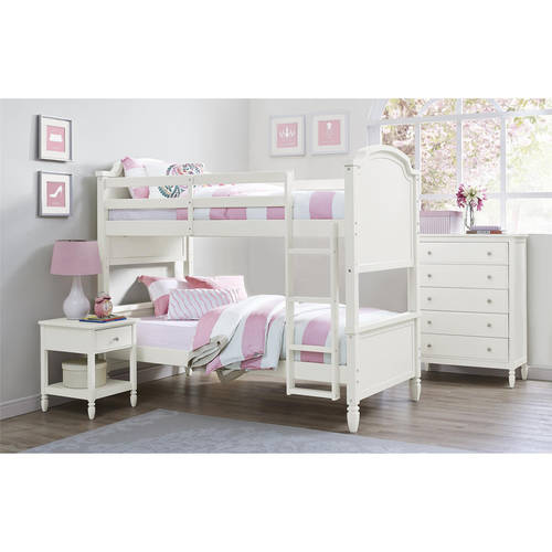 Better Homes and Gardens Lillian Twin Bunk Bed, White