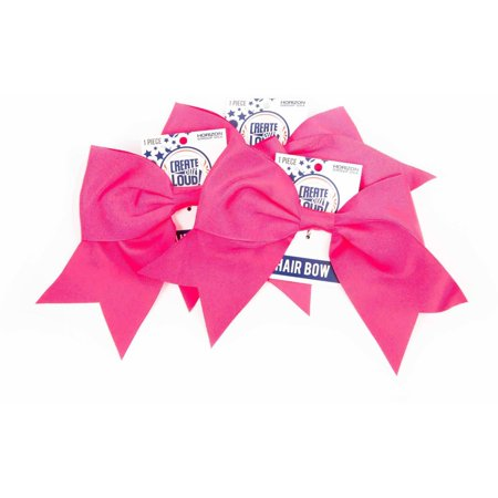 Horizon Group USA Create Out Loud Pink Grosgrain Hair Bow, 3pk - Neon Pink Hair Bow
