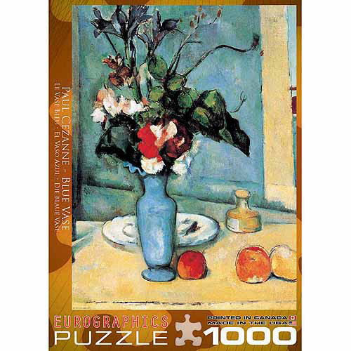 EuroGraphics Blue Vase by Cezanne 1000-Piece Puzzle
