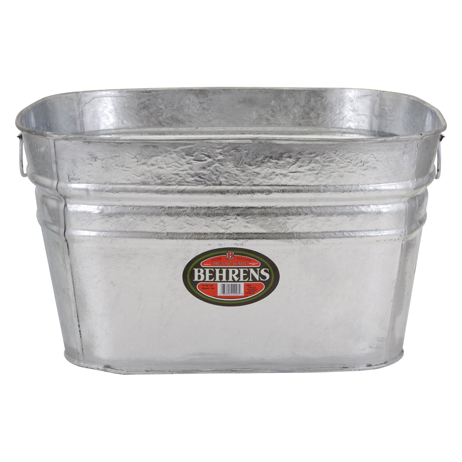 Behrens Hot Dipped Square Beverage Tub