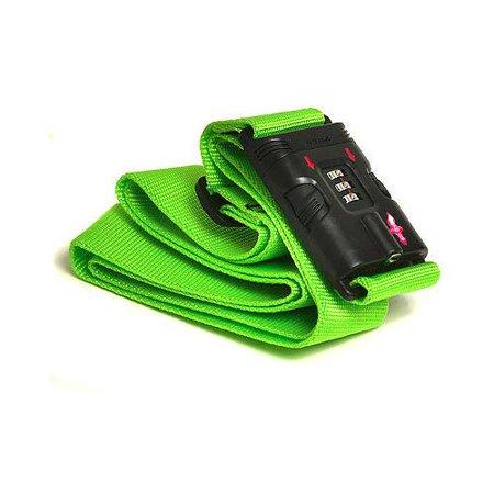 d687e8a85eda Safe Skies Green TSA-recognized Locking Luggage Strap with Bonus ...