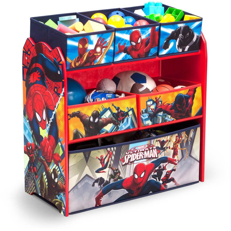 Click here to buy Delta Children Spider-Man Multi-Bin Toy Organizer by Marvel.
