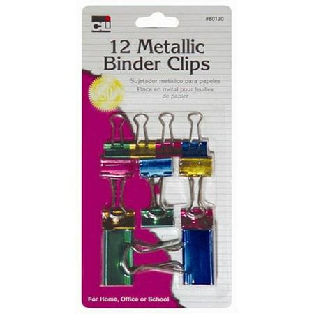 Binder Clips 12/pkg-assorted Metallics