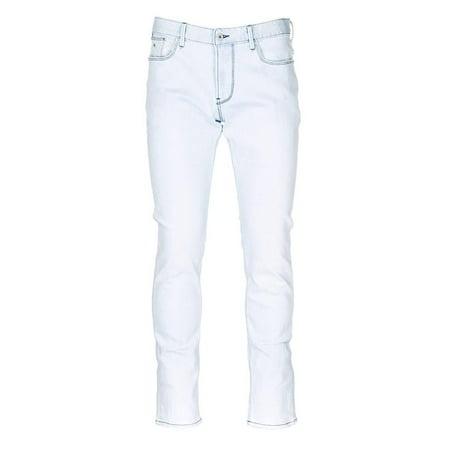 Emporio Armani Men's 5 Pocket Light Blue Jeans, Brand Size 34 Armani Five Pocket Jeans