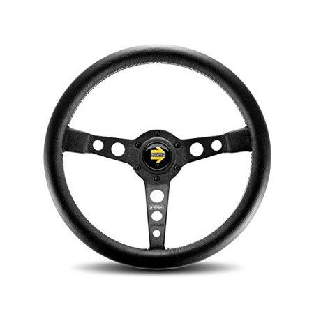 - MOMO PRO35BK2B Prototipo Black 350 mm Leather Steering Wheel