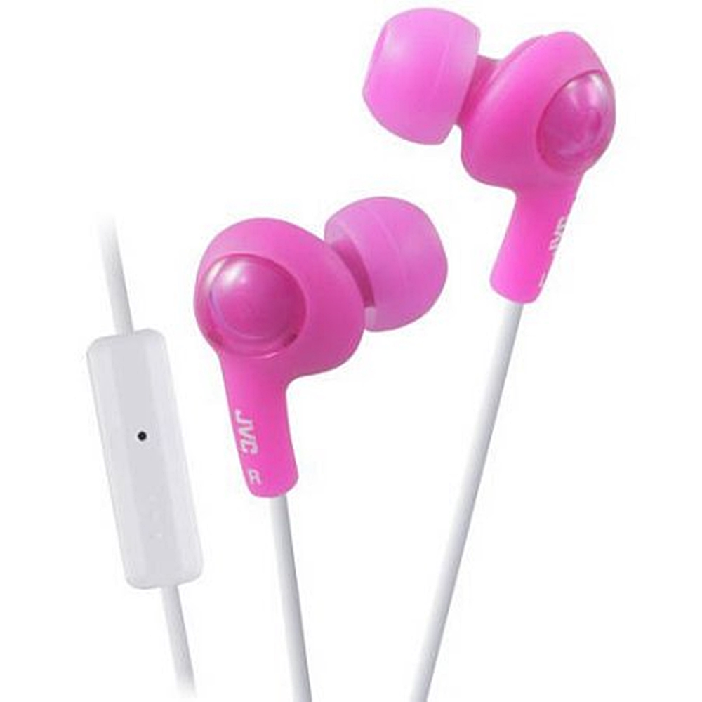 JVC Gumy Plus In-Ear Earbud Headphones with Microphone, Pink, HA-FX65M-P (Non-Retail Packaging)