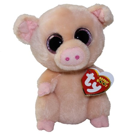 ef819bdea68 TY Beanie Boos - PIGGLEY the Pig (Glitter Eyes) (Regular Size - 6 inch)   New Version - Peach Color  - Walmart.com