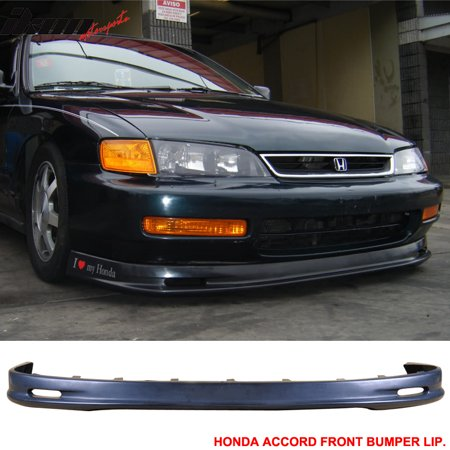 Fits 96-97 Honda Accord MU Style Front Bumper Lip Body Kit PP - Polypropylene