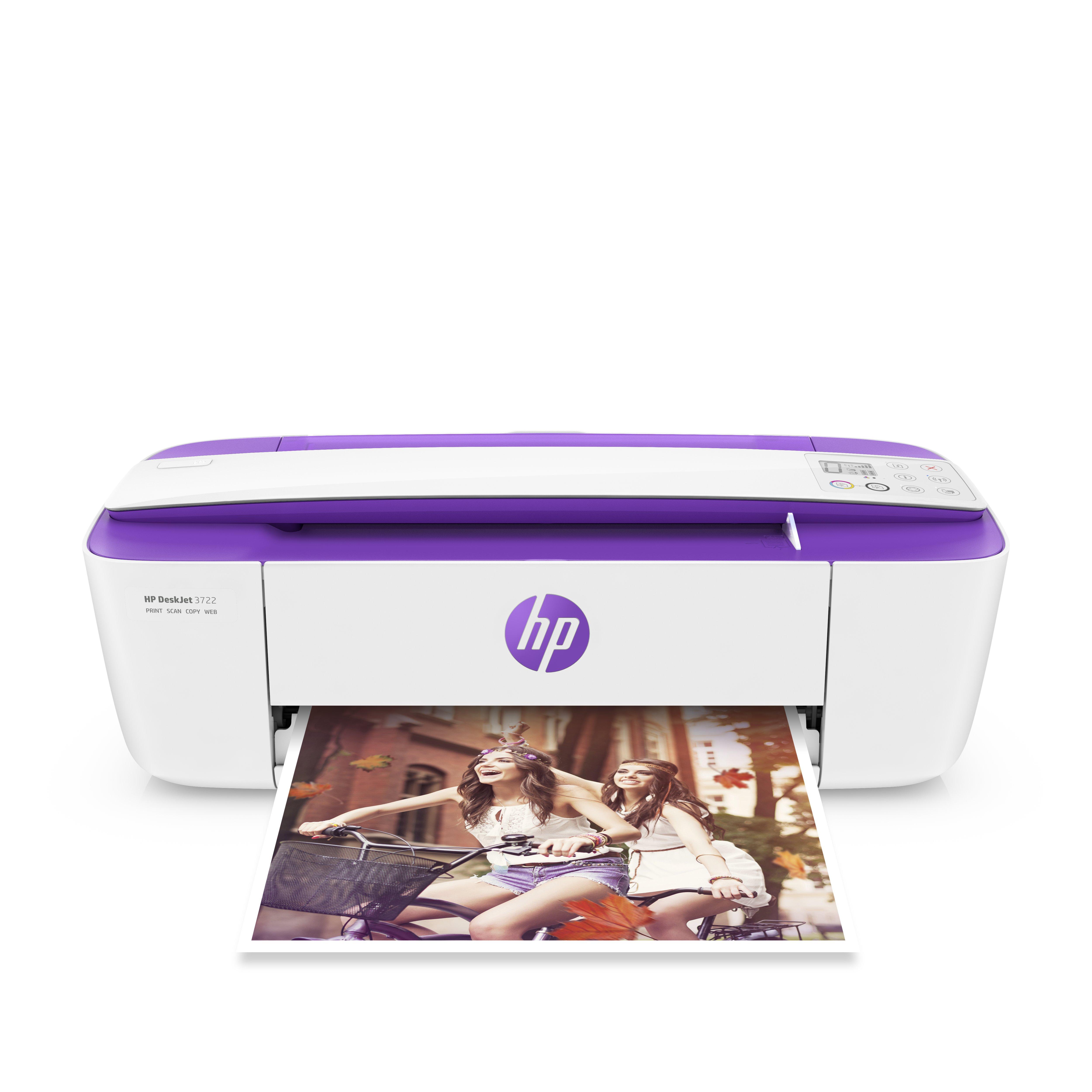 HP DeskJet 3722 All-in-One Printer Purple