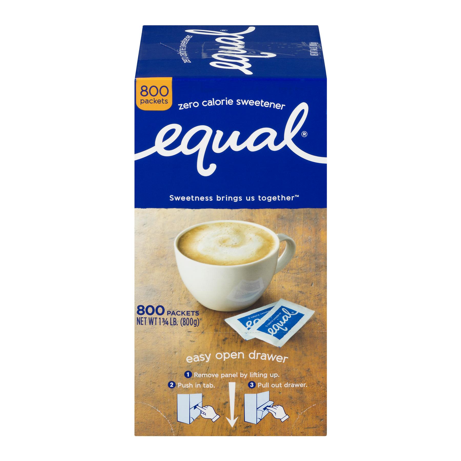 Equal Coffee and Tea Sweetener Sugar Free Sweetener with No Calories Artificial Sugar Replacement Sweetener, 800ct