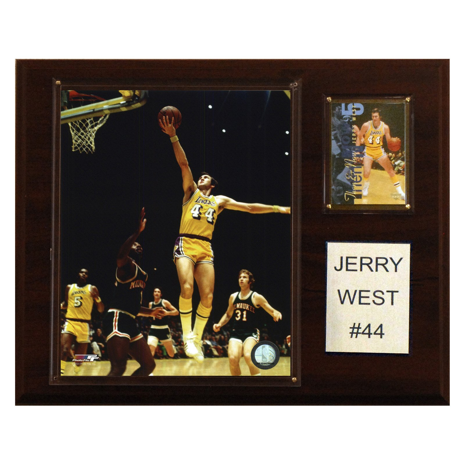 C&I Collectables NBA 12x15 Jerry West Los Angeles Lakers Player Plaque