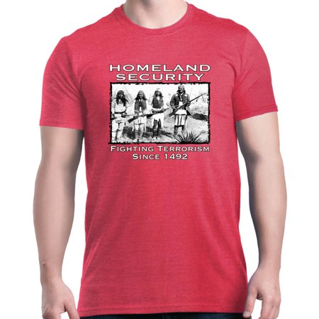 Shop4Ever Men's Homeland Security Since 1492 Graphic T-shirt (Columbia Security Check Shirt)