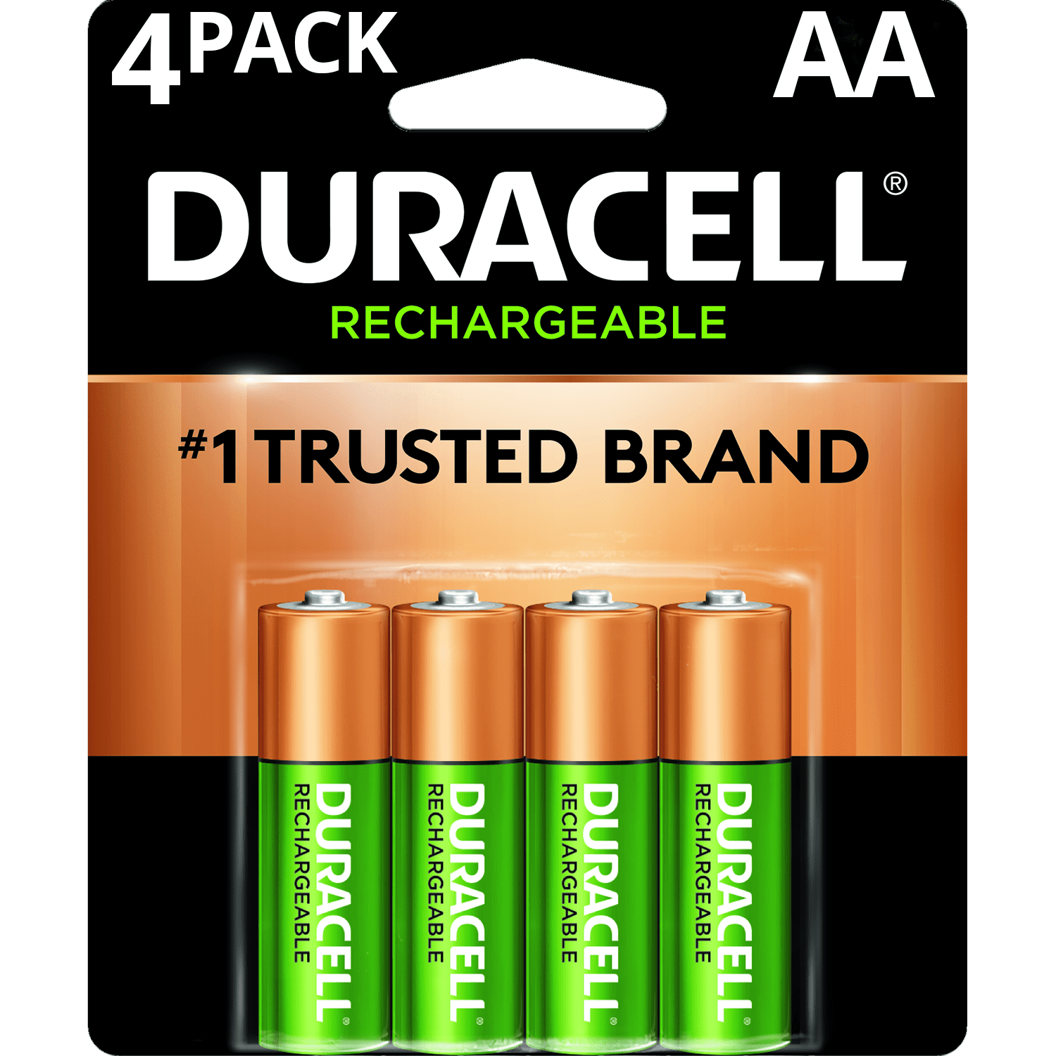 Rechargeable Alkaline Batteries >> Duracell 1 2v Rechargeable Nimh Aa Batteries 4 Pack Walmart Com