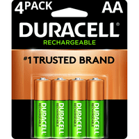 Duracell 1.2V Rechargeable Alkaline AA Batteries 4 Pack