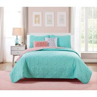 VCNY Home Turquoise Pineapple Sunday 4/5 Piece Bedding Quilt Set