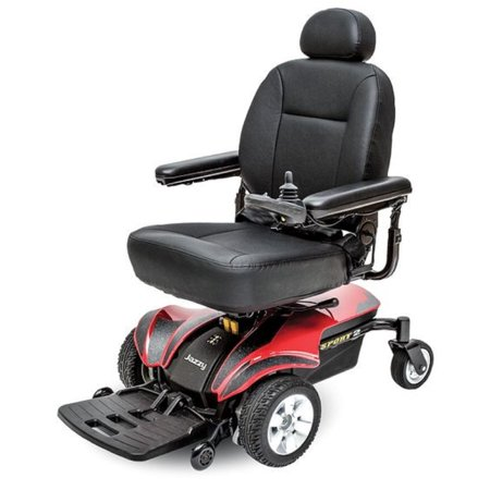 Jazzy Power Wheelchairs (Pride Mobility - Jazzy Sport 2 - Front-Wheel Drive Power Chair - Jazzy Red )