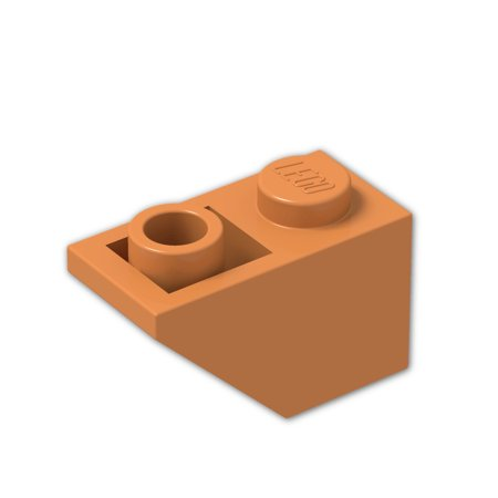Brick Building Sets Original Lego Parts: Slope, Inverted 45º 2 x 1 (3665 - Pack of 8) (Orange)